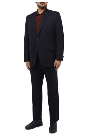 Мужское шерстяное поло SVEVO коричневого цвета, арт. 1377XSA20/MP13 | Фото 2 (Big sizes: Big Sizes; Материал внешний: Шерсть; Рукава: Длинные; Стили: Кэжуэл; Кросс-КТ: Трикотаж; Длина (для топов): Удлиненные; Застежка: Пуговицы)