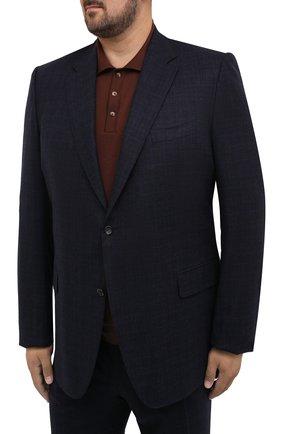 Мужской костюм из шерсти и кашемира CANALI темно-синего цвета, арт. T11280/10/BX02302/60-64 | Фото 2