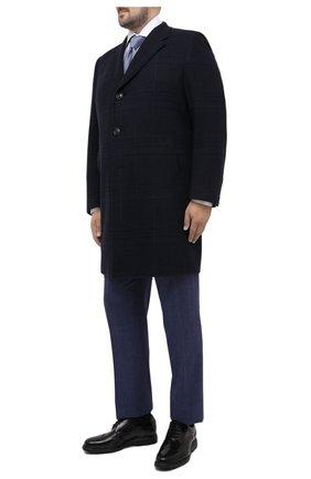 Мужской пальто из шерсти и кашемира CANALI темно-синего цвета, арт. 57118/FF02865/60-64 | Фото 2