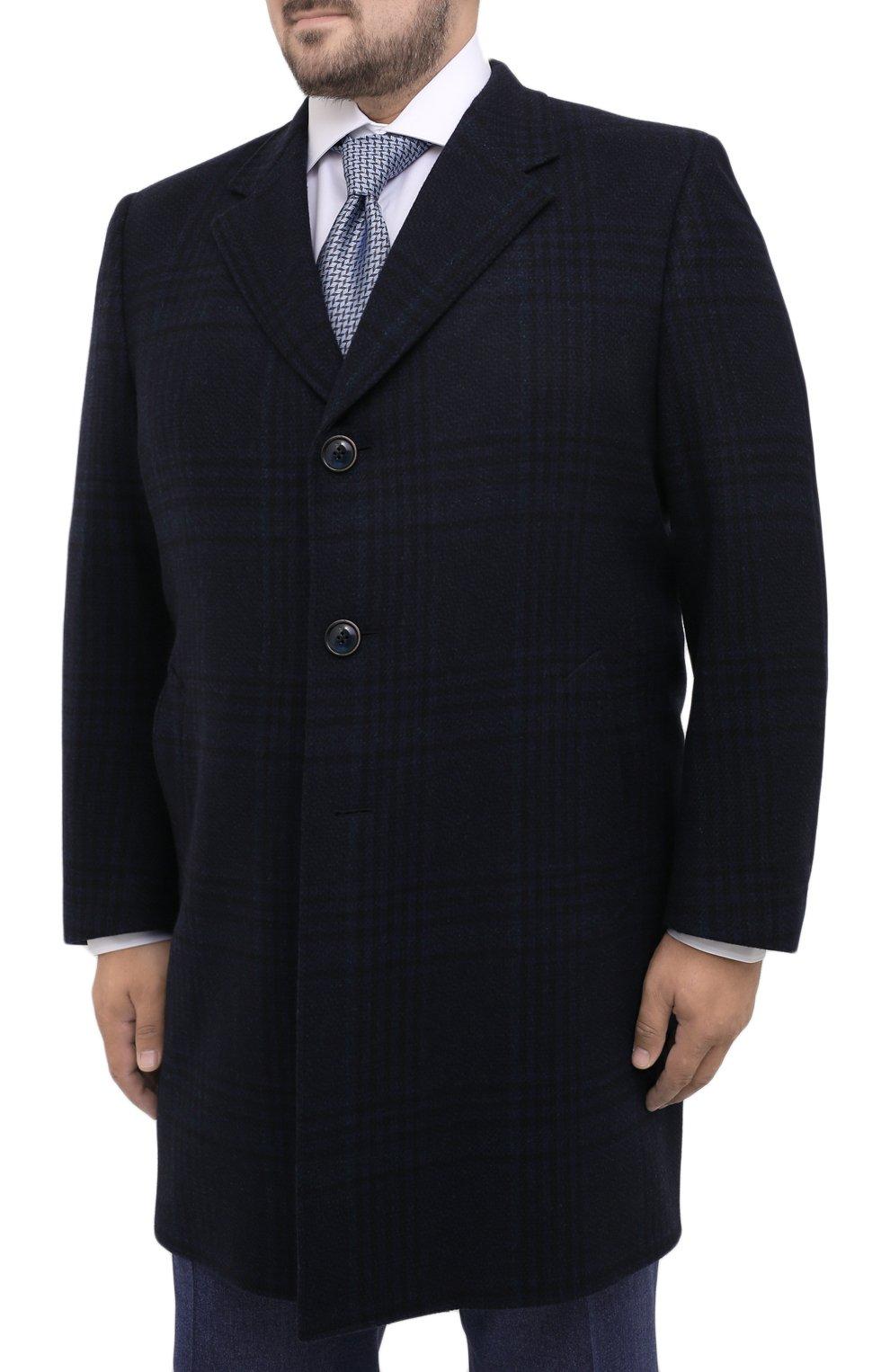 Мужской пальто из шерсти и кашемира CANALI темно-синего цвета, арт. 57118/FF02865/60-64 | Фото 3