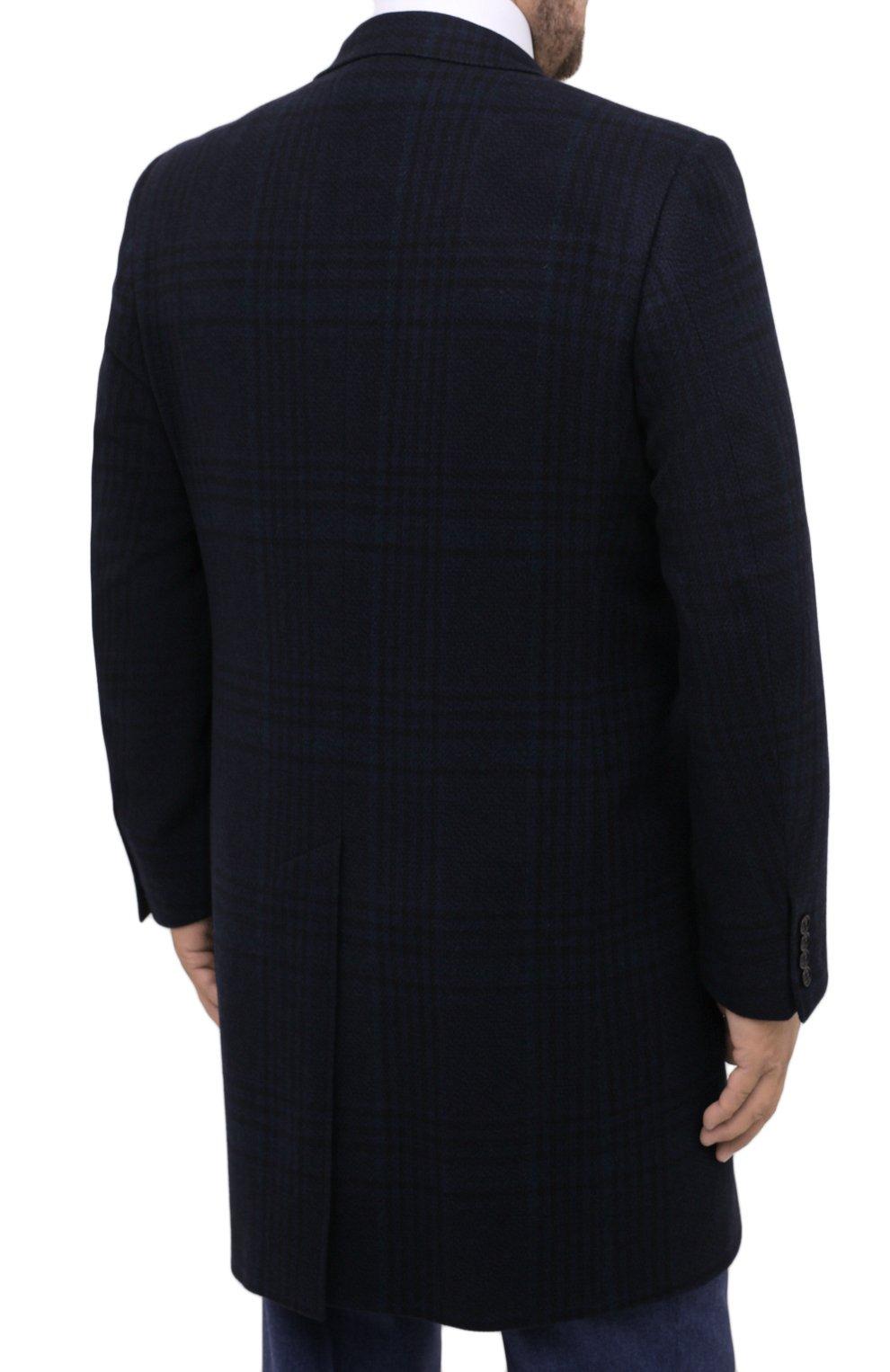 Мужской пальто из шерсти и кашемира CANALI темно-синего цвета, арт. 57118/FF02865/60-64 | Фото 4