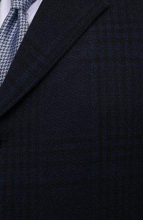 Мужской пальто из шерсти и кашемира CANALI темно-синего цвета, арт. 57118/FF02865/60-64 | Фото 5