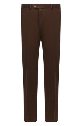 Мужской хлопковые брюки HILTL коричневого цвета, арт. 72481/60-70 | Фото 1