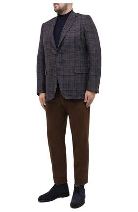 Мужской хлопковые брюки HILTL коричневого цвета, арт. 72481/60-70 | Фото 2