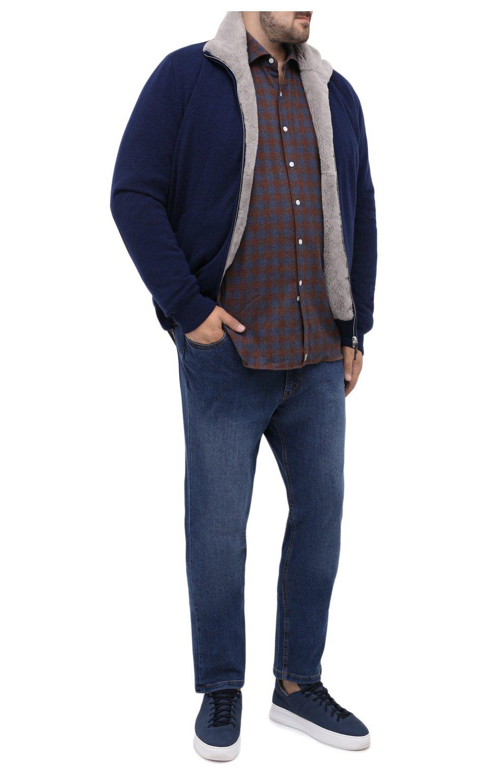 Мужские джинсы HILTL голубого цвета, арт. 74859/60-70 | Фото 2