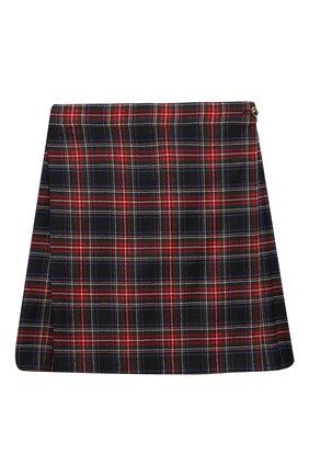 Детская шерстяная юбка DOLCE & GABBANA разноцветного цвета, арт. L53I79/FQCA2/8-14 | Фото 1