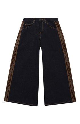 Детские джинсы FENDI синего цвета, арт. JFF203/A6IQ/3A-6A | Фото 1