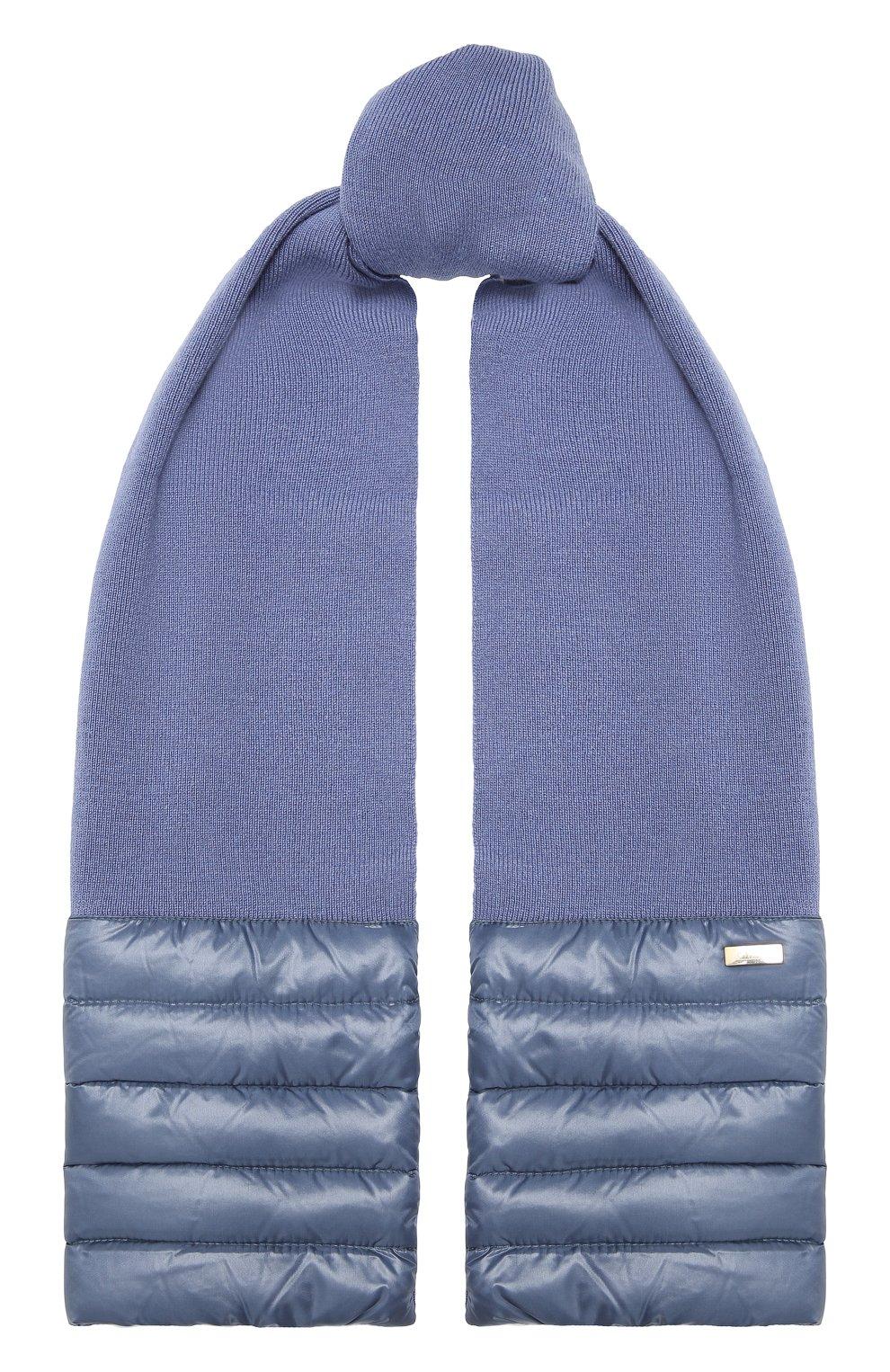 Детский комбинированный шарф HERNO голубого цвета, арт. SCP001G/12017 | Фото 1