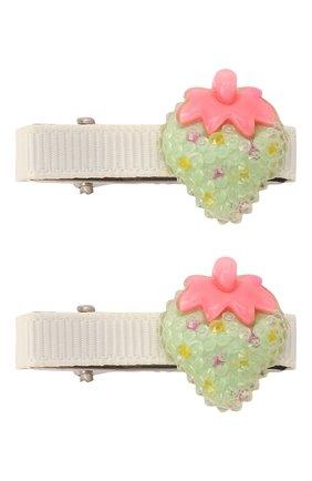 Детская комплект из двух заколок JUNEFEE зеленого цвета, арт. 6236 | Фото 1