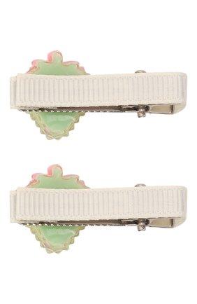Детская комплект из двух заколок JUNEFEE зеленого цвета, арт. 6236 | Фото 2