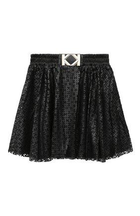 Детская юбка KARL LAGERFELD KIDS черного цвета, арт. Z13065 | Фото 1