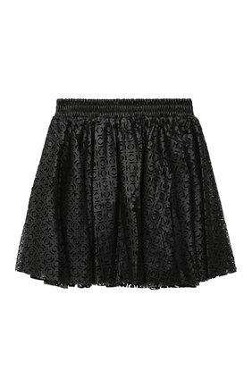 Детская юбка KARL LAGERFELD KIDS черного цвета, арт. Z13065 | Фото 2