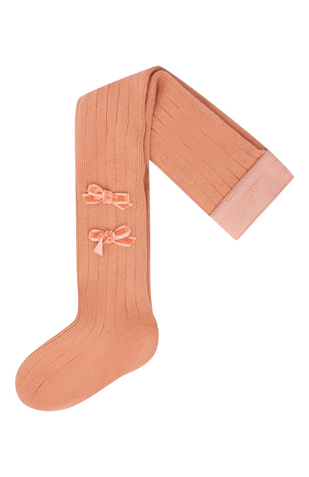 Детские колготки COLLEGIEN розового цвета, арт. 5991   Фото 1 (Материал: Текстиль, Хлопок)