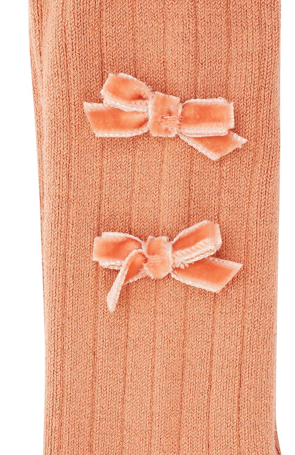 Детские колготки COLLEGIEN розового цвета, арт. 5991   Фото 2 (Материал: Текстиль, Хлопок)