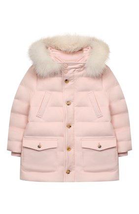 Детского пуховик LORO PIANA светло-розового цвета, арт. FAL3330 | Фото 1