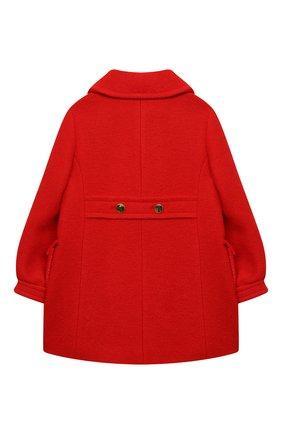 Детское шерстяное пальто GUCCI красного цвета, арт. 622836/XWALD   Фото 2