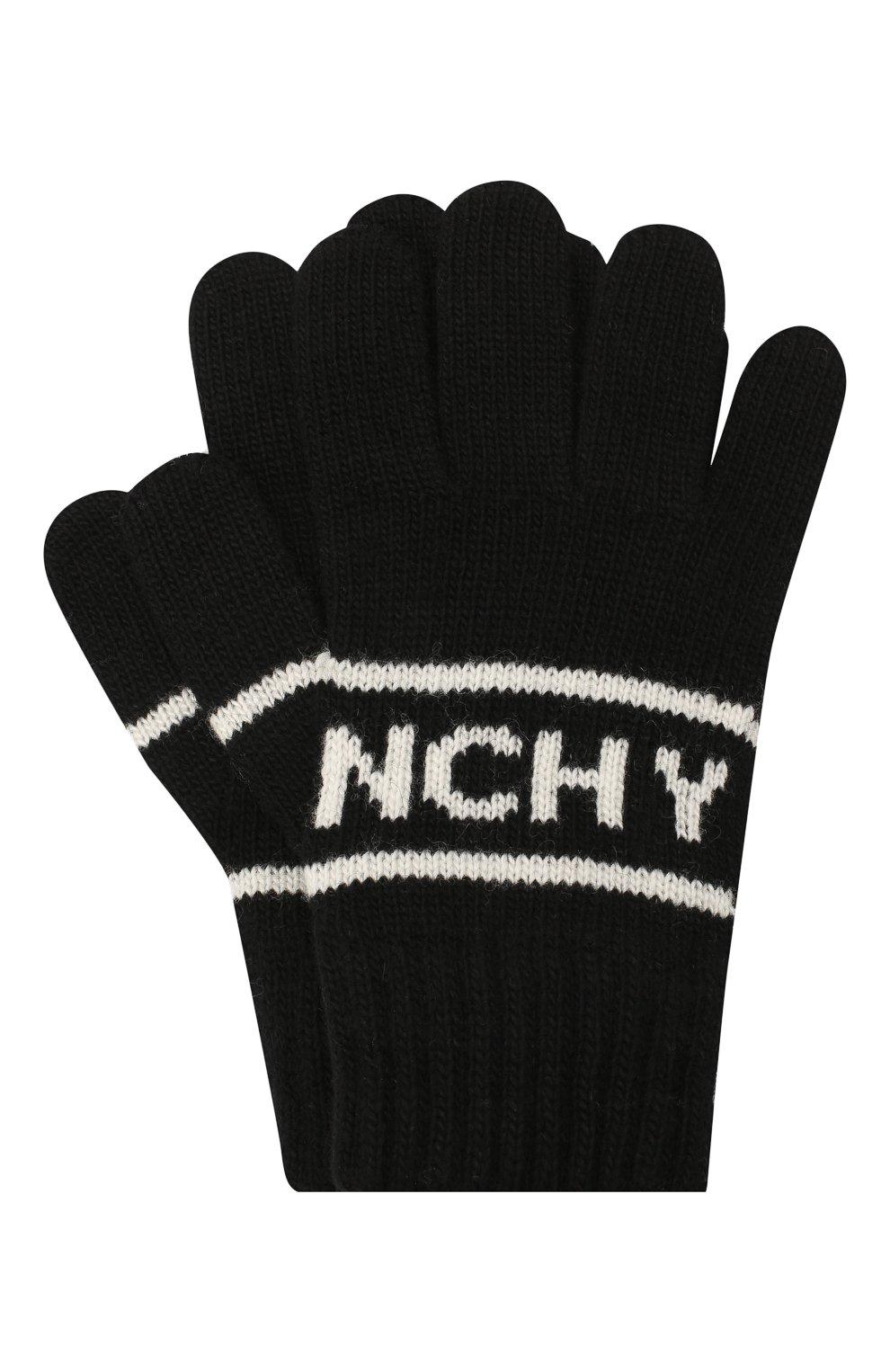 Детские перчатки GIVENCHY черного цвета, арт. H20038 | Фото 1