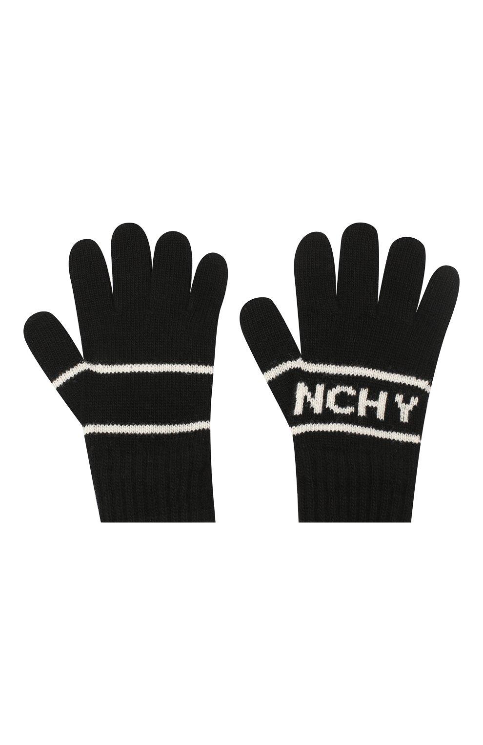 Детские перчатки GIVENCHY черного цвета, арт. H20038 | Фото 2