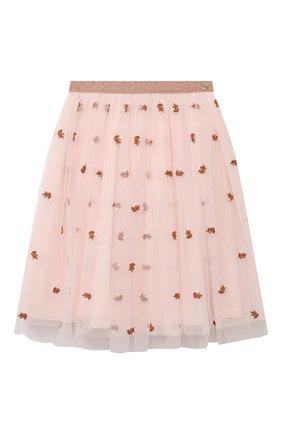 Детская юбка LANVIN розового цвета, арт. N13001 | Фото 1