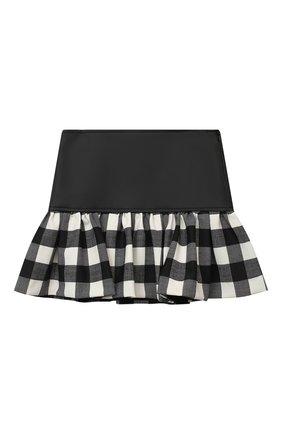 Детская юбка SIMONETTA черно-белого цвета, арт. 1N7000/NB390/1-4 | Фото 1