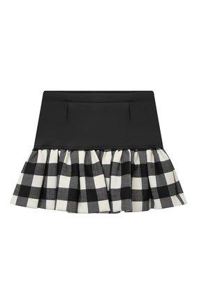 Детская юбка SIMONETTA черно-белого цвета, арт. 1N7000/NB390/1-4 | Фото 2