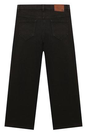 Детские джинсы DOLCE & GABBANA темно-коричневого цвета, арт. L52F18/LY045/2-6 | Фото 2 (Материал внешний: Хлопок; Девочки Кросс-КТ: Брюки-одежда; Ростовка одежда: 2 года | 92 см, 3 года | 98 см, 4 года | 104 см, 5 лет | 110 см, 6 лет | 116 см)