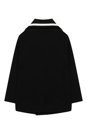 Детское шерстяное пальто DOLCE & GABBANA черного цвета, арт. L41C93/G7XID/2-6 | Фото 2