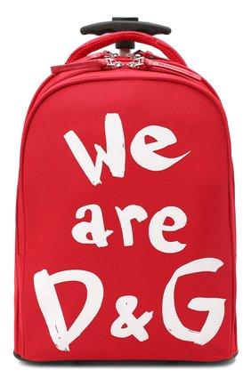 Детский чемодан DOLCE & GABBANA красного цвета, арт. EM0057/AW005 | Фото 1