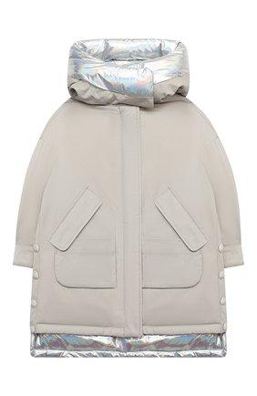 Детского пуховая куртка YVES SALOMON ENFANT серебряного цвета, арт. 21WEM002XXF33W/4-6 | Фото 1