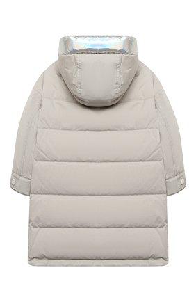 Детского пуховая куртка YVES SALOMON ENFANT серебряного цвета, арт. 21WEM002XXF33W/4-6 | Фото 2