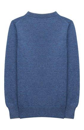 Детский кашемировый пуловер BRUNELLO CUCINELLI синего цвета, арт. B22M10000B | Фото 2