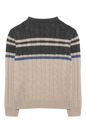 Детский кашемировый пуловер BRUNELLO CUCINELLI разноцветного цвета, арт. B22M71000A | Фото 2