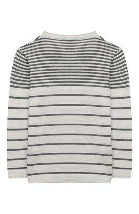 Детский шерстяной пуловер BRUNELLO CUCINELLI светло-серого цвета, арт. B24M11000B | Фото 2
