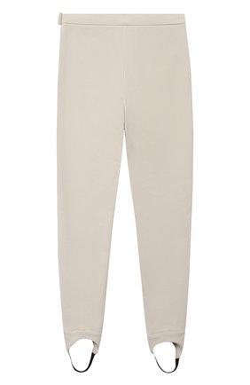 Детские хлопковые брюки LORO PIANA бежевого цвета, арт. FAL3724 | Фото 2 (Материал внешний: Хлопок; Девочки Кросс-КТ: Брюки-одежда)