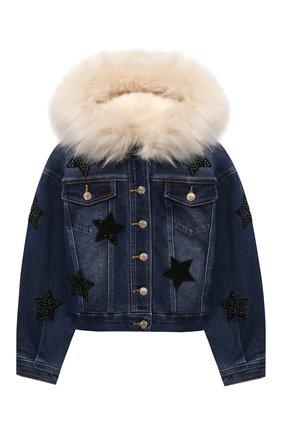 Детская джинсовая куртка JAKIOO синего цвета, арт. 496101AD | Фото 1