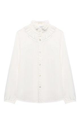 Детское блузка MONNALISA белого цвета, арт. 176CAMT   Фото 1