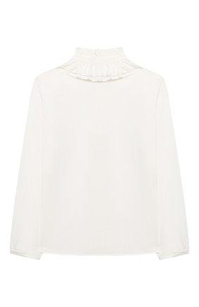 Детское блузка MONNALISA белого цвета, арт. 176CAMT   Фото 2