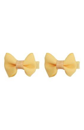 Детская комплект из двух заколок JUNEFEE желтого цвета, арт. 4328 | Фото 1