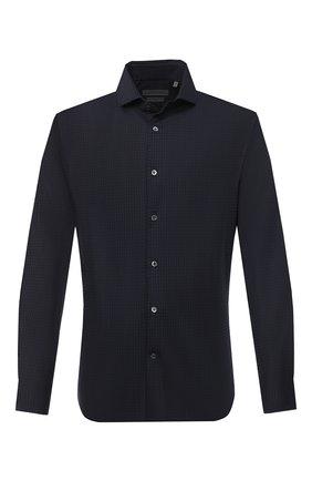 Мужская хлопковая рубашка CORNELIANI синего цвета, арт. 86P012-0811206/00 | Фото 1