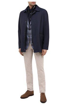 Мужская хлопковая рубашка CORNELIANI синего цвета, арт. 86P012-0811206/00 | Фото 2