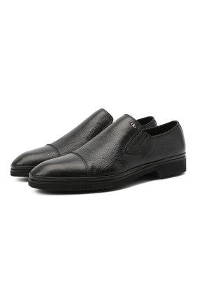 Мужские кожаные лоферы ALDO BRUE черного цвета, арт. AB8619K-NCM.A.A99T | Фото 1