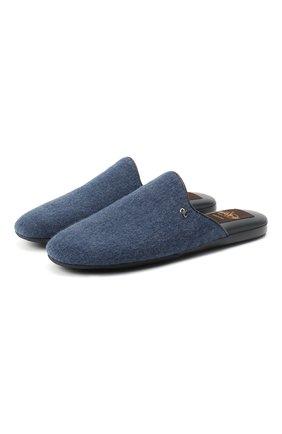 Мужского текстильные домашние туфли ALDO BRUE синего цвета, арт. PCU100K-CN   Фото 1