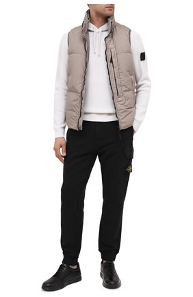 Мужские кожаные кеды MORESCHI черного цвета, арт. 43601/BL/B0RG0GNA/F.NAPPA   Фото 2