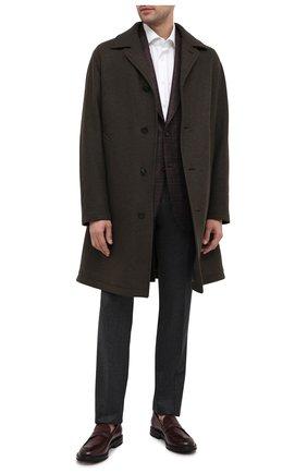 Мужские кожаные пенни-лоферы W.GIBBS бордового цвета, арт. 0105001/2243 | Фото 2 (Материал внешний: Кожа; Материал внутренний: Натуральная кожа; Мужское Кросс-КТ: Лоферы-обувь; Стили: Классический)