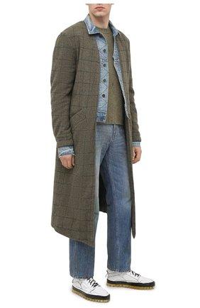 Мужские кожаные кеды RBRSL белого цвета, арт. 7Y2280U.Y40TYDT254 | Фото 2
