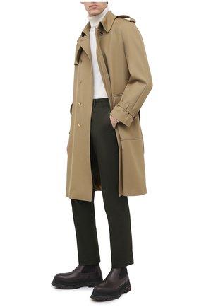 Мужские кожаные челси BURBERRY коричневого цвета, арт. 8031356 | Фото 2