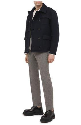 Мужские кожаные дерби BURBERRY черного цвета, арт. 8031358 | Фото 2