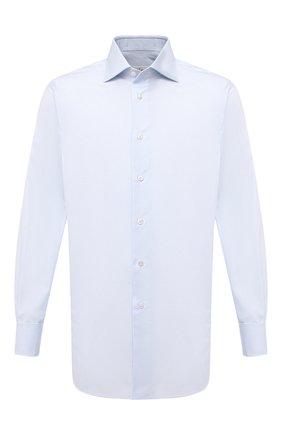 Мужская хлопковая сорочка BRIONI голубого цвета, арт. RCB20L/PZ001 | Фото 1