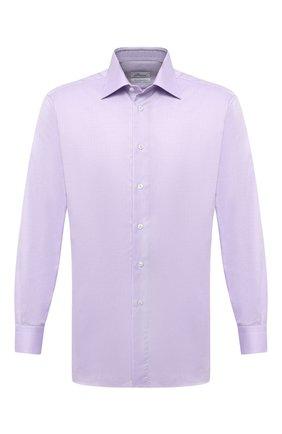 Мужская хлопковая сорочка BRIONI сиреневого цвета, арт. RCA20M/P7003 | Фото 1