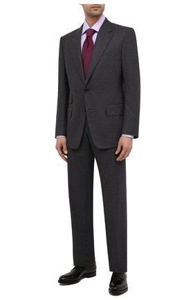 Мужская хлопковая сорочка BRIONI сиреневого цвета, арт. RCA20M/P7003 | Фото 2